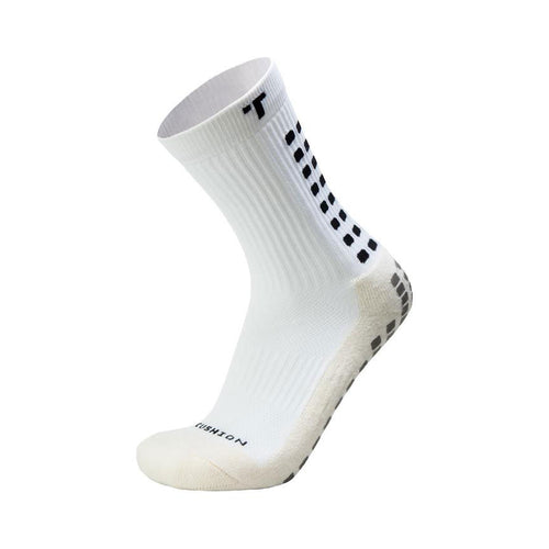 2.0 Mid-Calf Length Cushion Sock - White