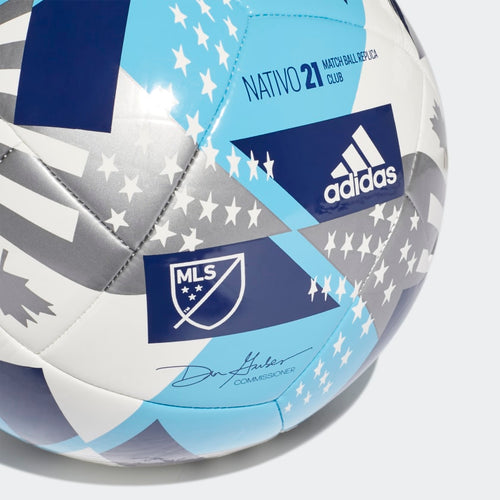 MLS Club Ball - White/Bright Cyan/Iron Metallic/Pantone