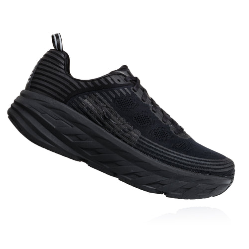 Men's Bondi 6 (Wide - 2E) Running Shoe - Black/Black