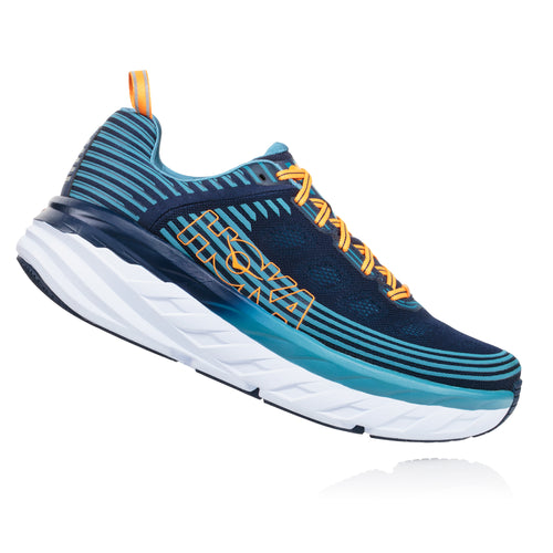 Men's Bondi 6 Running Shoe - Black Iris / Storm Blue
