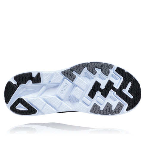 Men's Clifton 5 Running Shoes (WIDE 2E)-Black/White