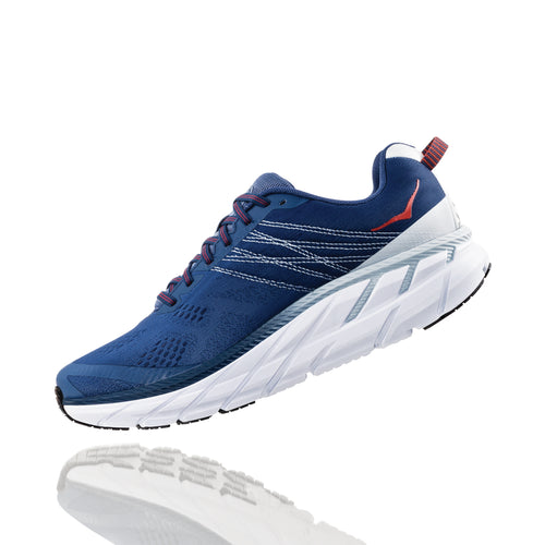 Men's Clifton 6 (Wide Width 2E) Running Shoe - Ensign Blue / Plein Air