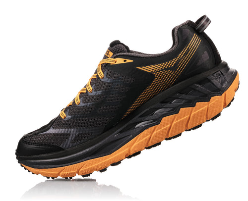 Men's Stinson ATR 4 Running Shoe- Black/Kumquat
