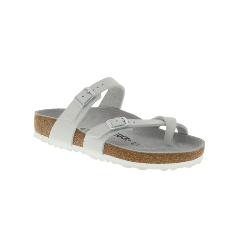 Women's Mayari Suede White Nubuck Leather Sandal