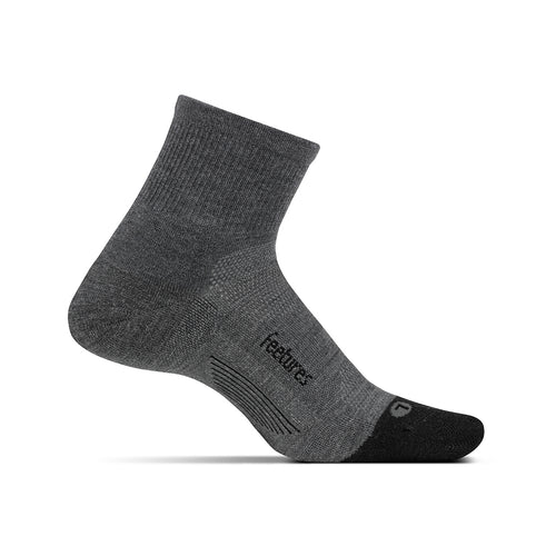 Unisex Merino 10 Cushion Quarter Sock - Grey