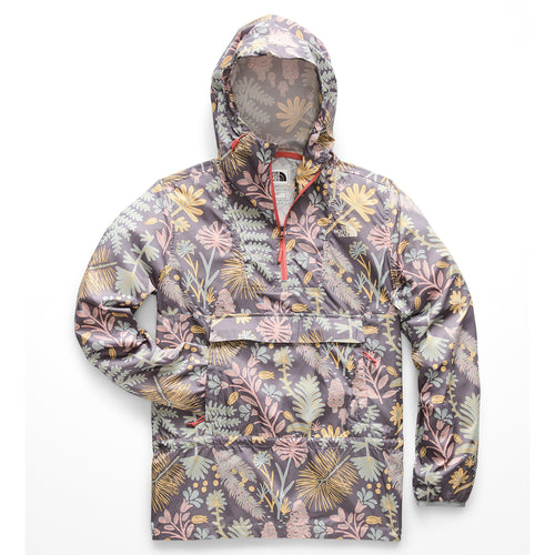 Women's Fanorak Jacket - Medieval Grey Woodland Floral Print
