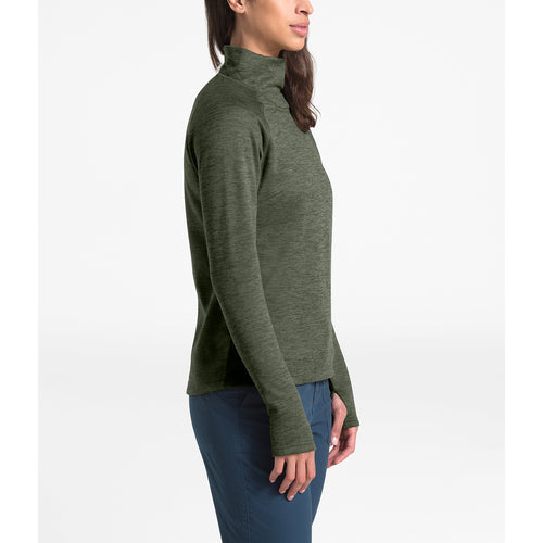 Women's Canyonlands 1/4 Zip Fleece - Taupe Green Heather