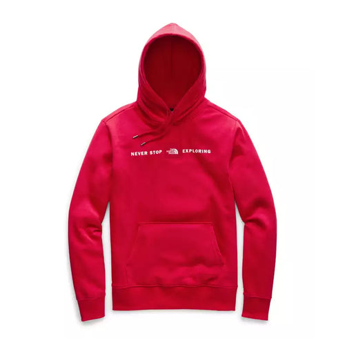 Men's Red Pullover Hoodie-TNF Red/TNF Black