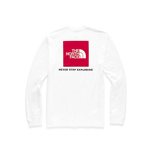 Men's Long Sleeve Red Box T-TNF White/TNF Red