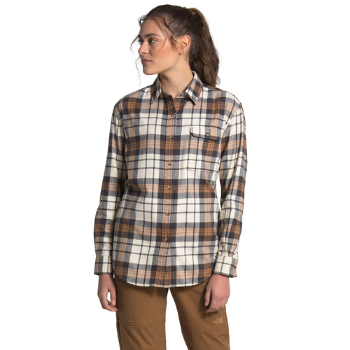 Women's Berkeley L/S Boyfriend Shirt - Vintage White Heritage Medium Three Color Plaid