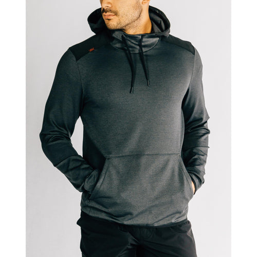 Men's Nylon Tactel Hoodie-Black Heather