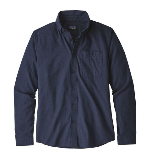 Men's Long-Sleeved Vjosa River Pima Shirt - Classic Navy