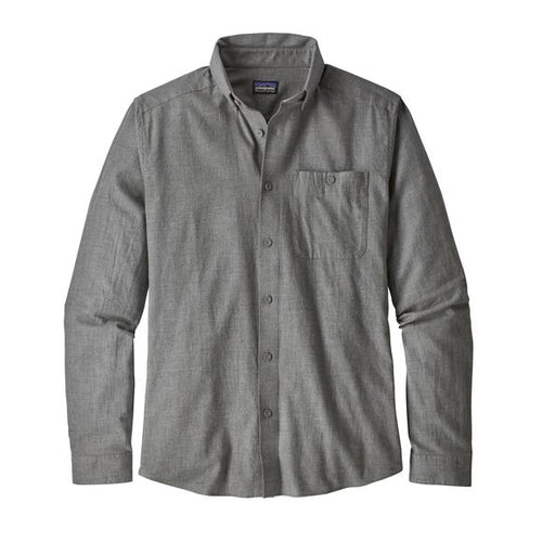 Men's Long-Sleeved Vjosa River Pima Shirt - Feather Grey