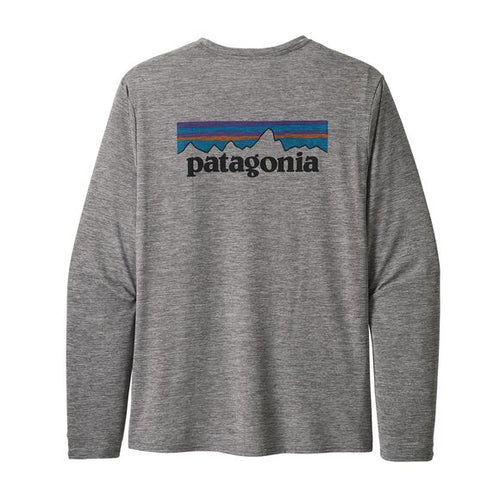 Men's Long-Sleeved Capilene® Cool Daily Graphic Shirt - P-6 Logo: Feather Grey