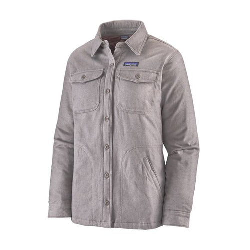 Women's Insulated Fjord Flannel Jacket - Jaspe Twist: Furry Taupe