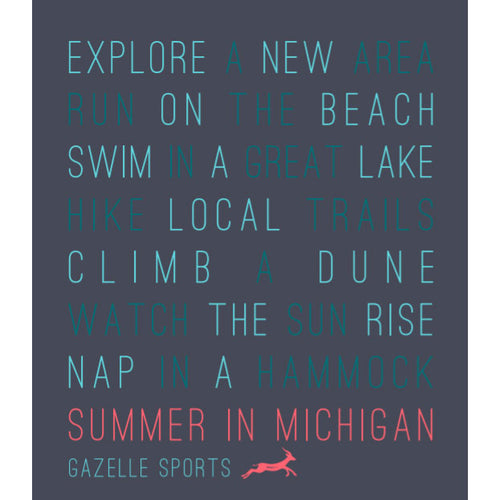 Unisex Summer in Michigan Short Sleeve Special Blend T-Shirt - Midnight