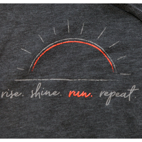 Women's rise shine run repeat Cali Wave Wash Hood Pullover - Shadow