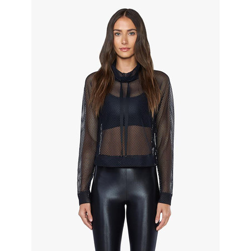 Women's Pump Open Mesh Pullover - Black