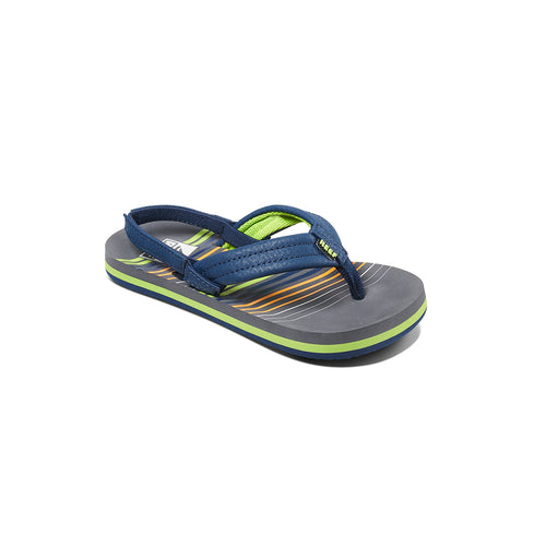 Boys' Little Ahi Sandal - Stripe Green