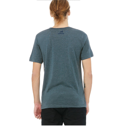 Unisex RunXmitten Triblend Short Sleeve Shirt - Steel