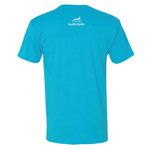Unisex Cross Country Arrow Run Heart Short Sleeve - Vintage Turquoise
