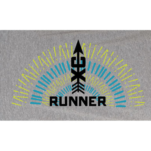 Unisex Cross Country Runner Burst Short Sleeve Shirt - Premium Heather