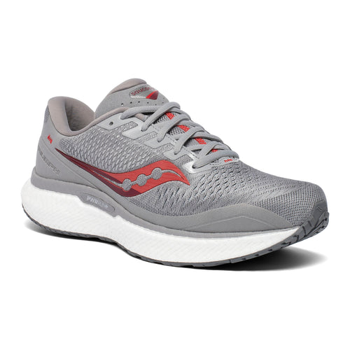 Men's Triumph 18 (D - Regular) Running Shoe - Alloy/Red