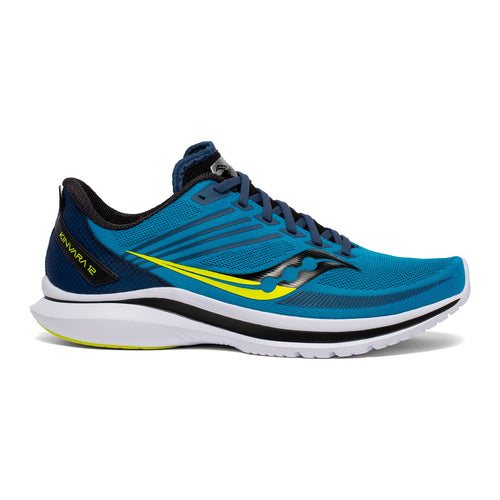 Men's Kinvara 12 (D - Regular) Running Shoe - Cobalt/Citrus