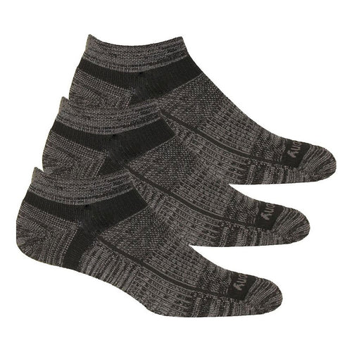 Unisex Inferno Merino Wool Blend Low Cut 3PK Socks - Black