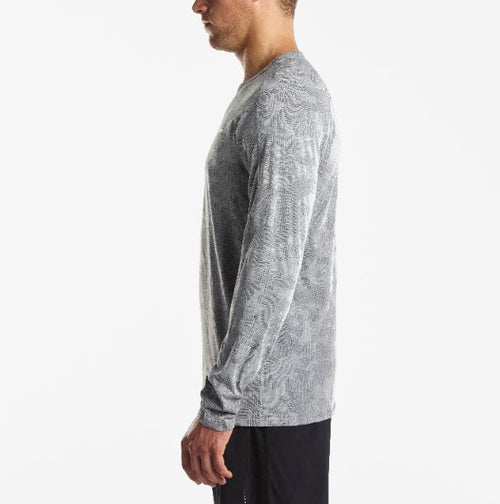 Men's Negative-Split Jacquard Long Sleeve- Grey