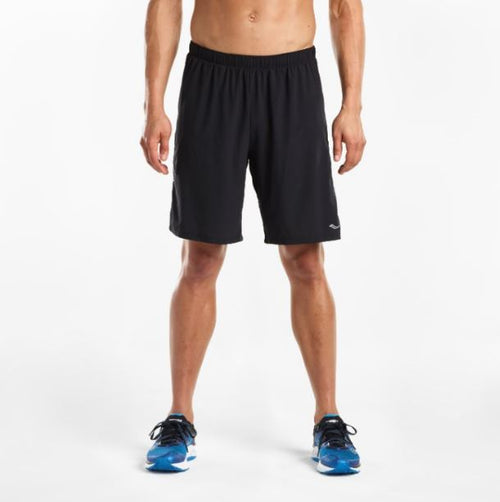 "Men's Interval 9"" 2in1 Short- Black"