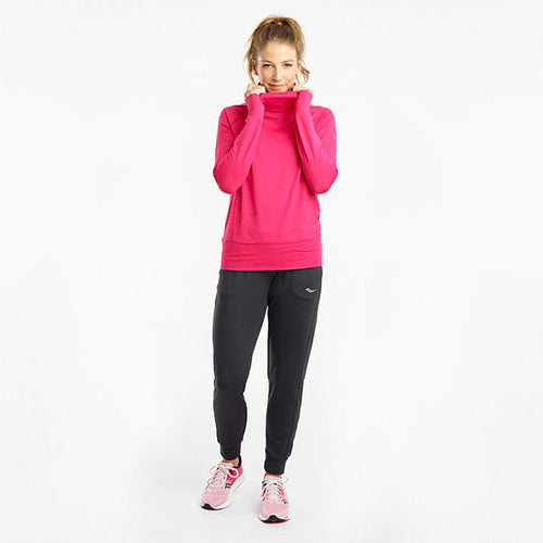 Women's Sunday Funnel Neck Top - Love Potion Heather