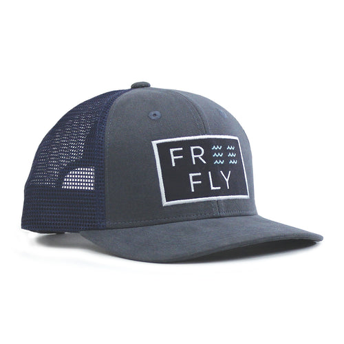 Men's Wave Snapback Hat - Washed Navy