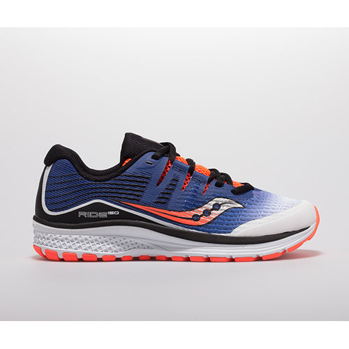 Youth Ride ISO Running Shoe - White/Blue/Vizio Red