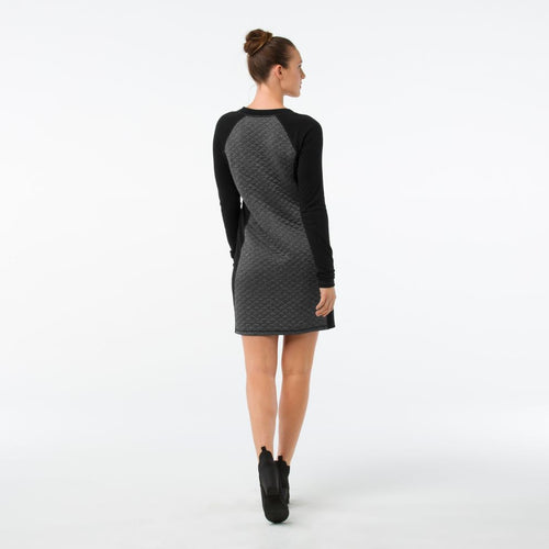 Women's Diamond Peak Quilted Dress - Black Heather
