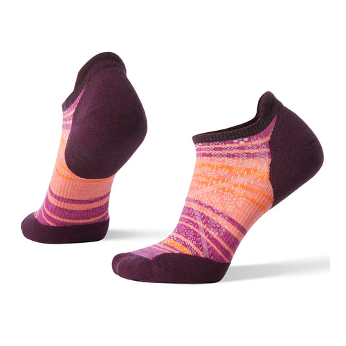 Women's PhD® Run Light Elite Striped Micro Socks - Bordeaux