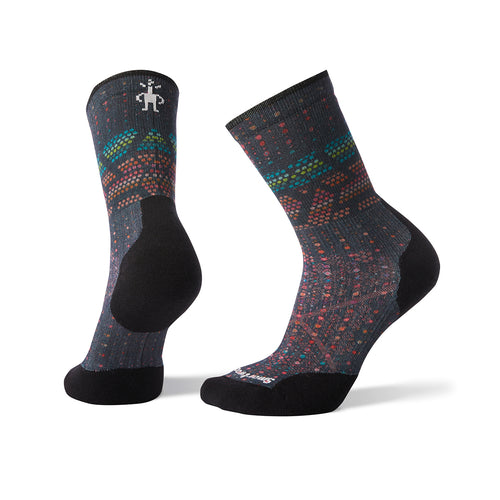 Women's PhD Run Light Elite Print Crew Socks - DEEP NAVY