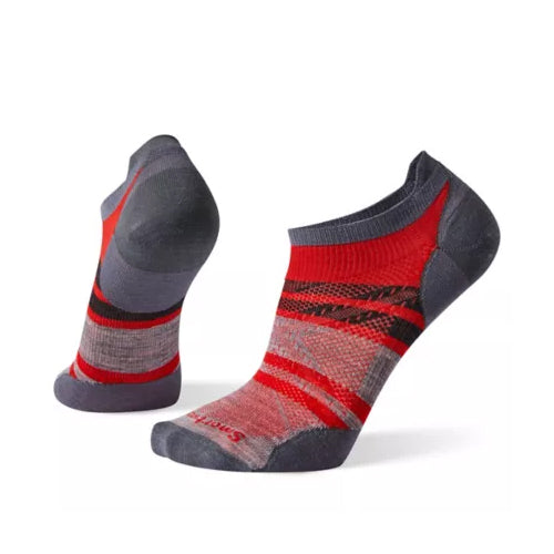 Men's PhD Run Ultra Light Pattern Micro Sock - Tandoori Orange