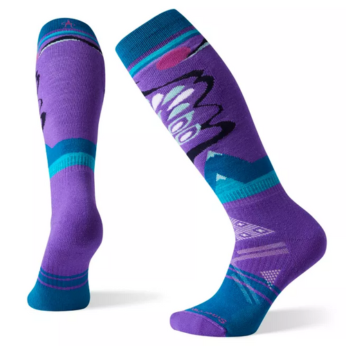 Women's PhD Ski Medium Pattern Sock - Desert Orchid