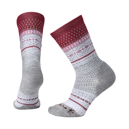Women's CHUP Genser Crew Socks - Light Gray Heather