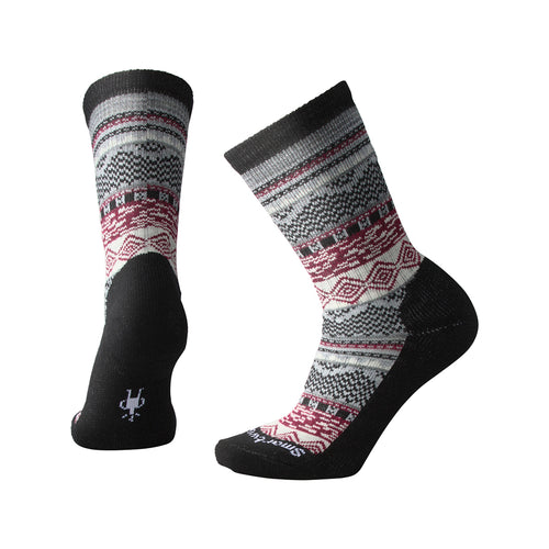 Women's Dazzling Wonderland Crew Sock - Black