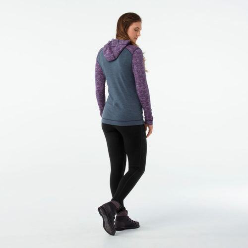 Women's Merino 250 Base Layer 1/2 Zip Hoodie - Dark Blue Steel