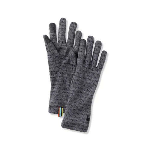 Women's Merino 250 Pattern Glove - Medium Grey Tick Stitch