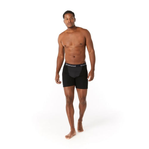 Men's Merino Sport 250 Wind Boxer Brief - Black