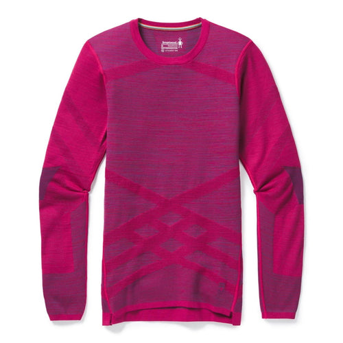 Women's Intraknit Merino 200 Crew - Very Berry Space Dye