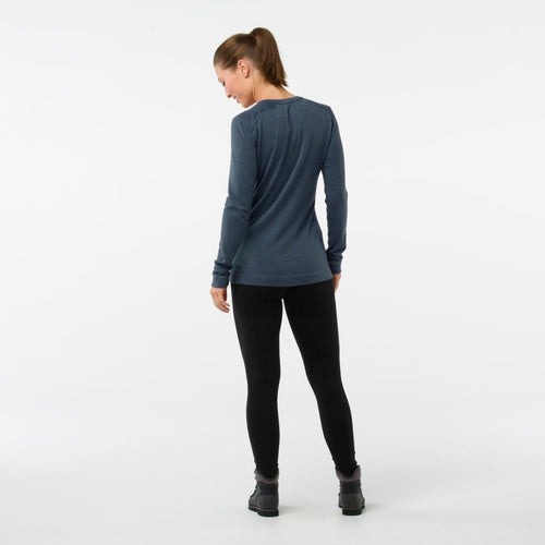 Women's Merino 250 Base Layer Crew Shirt - Dark Blue Steel Heather