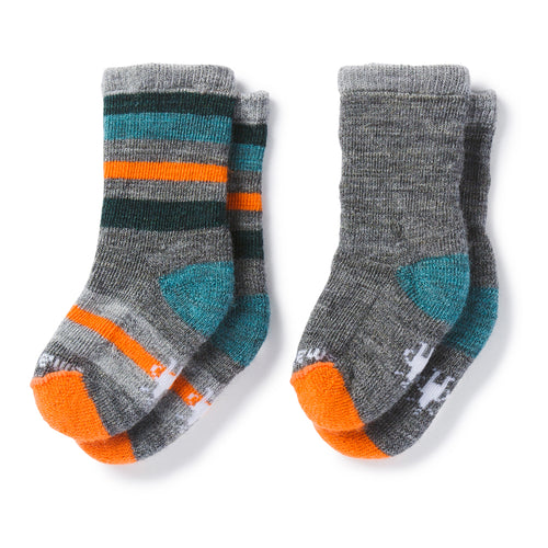 Toddler Sock Sampler - Medium Gray Hthr/Mediterranean Hthr