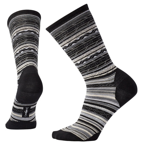 Women's Ethno Graphic Crew Sock - Black