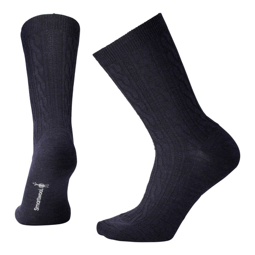 Women's Cable II Sock - Deep Heather Navy