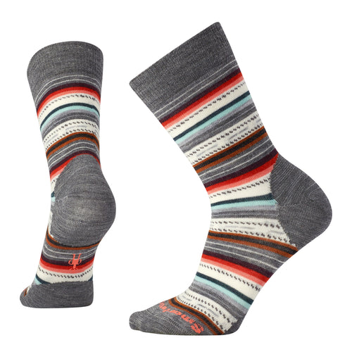 Women's Margarita Sock - Medium Gray Heather/Bright Coral